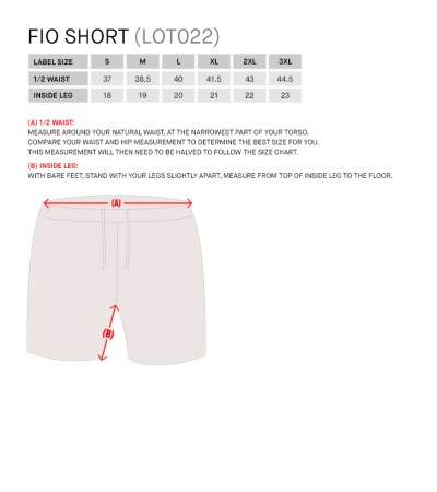 Size Guide for Fio Short