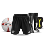 JNR STARTER PACK: SOCKS, SHORTS, BALL, SHINPAD - $80.00