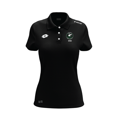 Womens Supporters Polo w Initials WSAFC Black