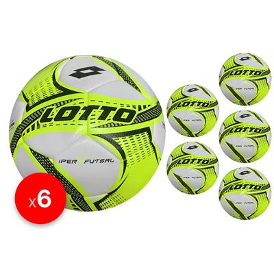 Futsal Iper sz 4 Bundle (6) Lime/Green/Black   4 (KFBB1023)