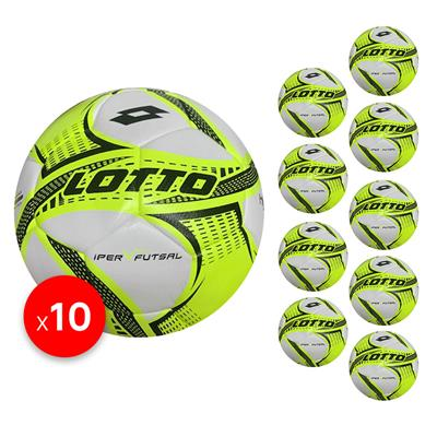Futsal Iper sz 4 Bundle (10) Lime/Green/Black   4 (KFBB1024)