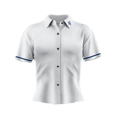 Mags Uniform Blouse SS White/Navy