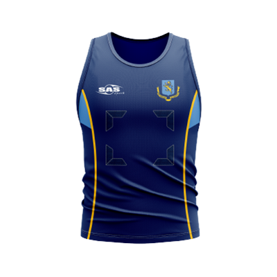 SS Mags Netball Vest Navy/Sky