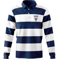 Striped National Masters Retro Jersey Navy/White
