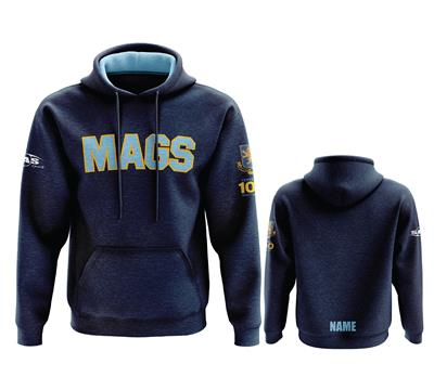 MAGS Classic Hoody w Name Navy