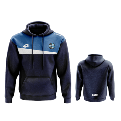 Taupo AFC Eclipse Hoodie Jnr w Name Navy/Royal